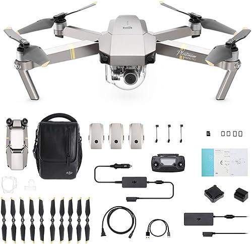 DJI - Mavic Pro Fly More Combo Platinum (Version UE)   Incl. 1 Drone Quadricoptère, 3 Batteries de Vol Intelligente, ...
