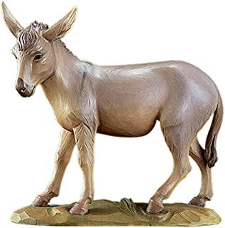 Avalon Gallery Val Gardena Hand Painted Resin Nativity Statue Set and Add On Figurines (Donkey)