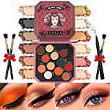 LUXAZA Neutral Matte Eyeshadow Palette,Quick-Combo Buildable & Blendable Frosted Makeup Palette,High Pigmented Long Lasting Waterproof Eye Shadow Starter kit - Neutral