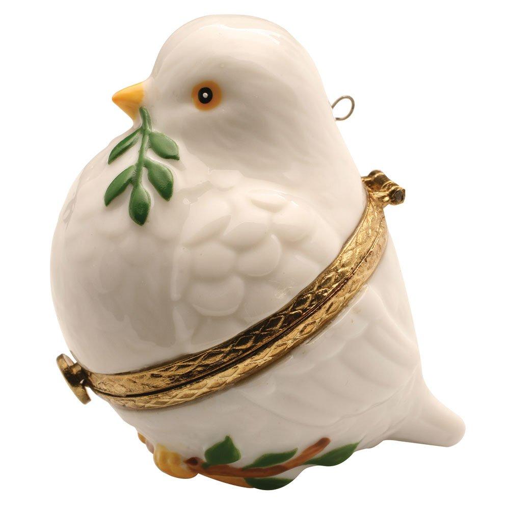 Image of Christmas Peace Dove Hinged Box Ornament