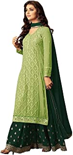 Infamiss Sharara Salwar Suit For Women Heavy Georgette With Embroidery & Stone With Inner Dupatta Nazneen