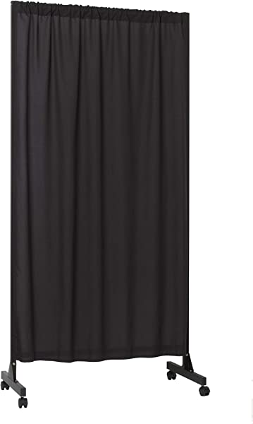 Don T Look At Me Partial Room Divider Black Frame With Black Blackout Fabric