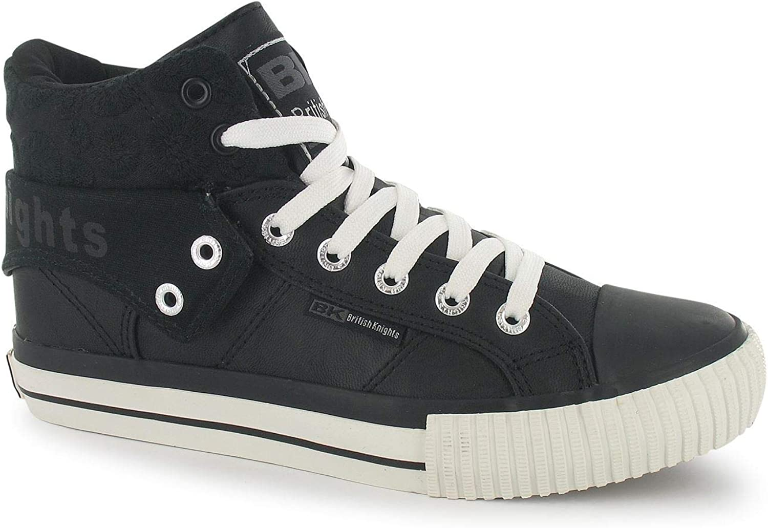 British Knights Roco PU Hi Top Trainers Womens Athleisure shoes Sneakers