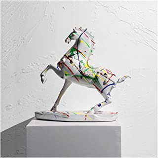 Estatua de mesa Crafts lujo luz de alta gama caballo Adornos nórdica de la sala oficina estudio gabinete del vino jo...