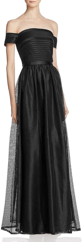 JS Collections Womens OffTheShoulder FullLength Evening Dress
