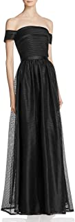 JS Collections Womens Off-The-Shoulder Full-Length Evening Dress