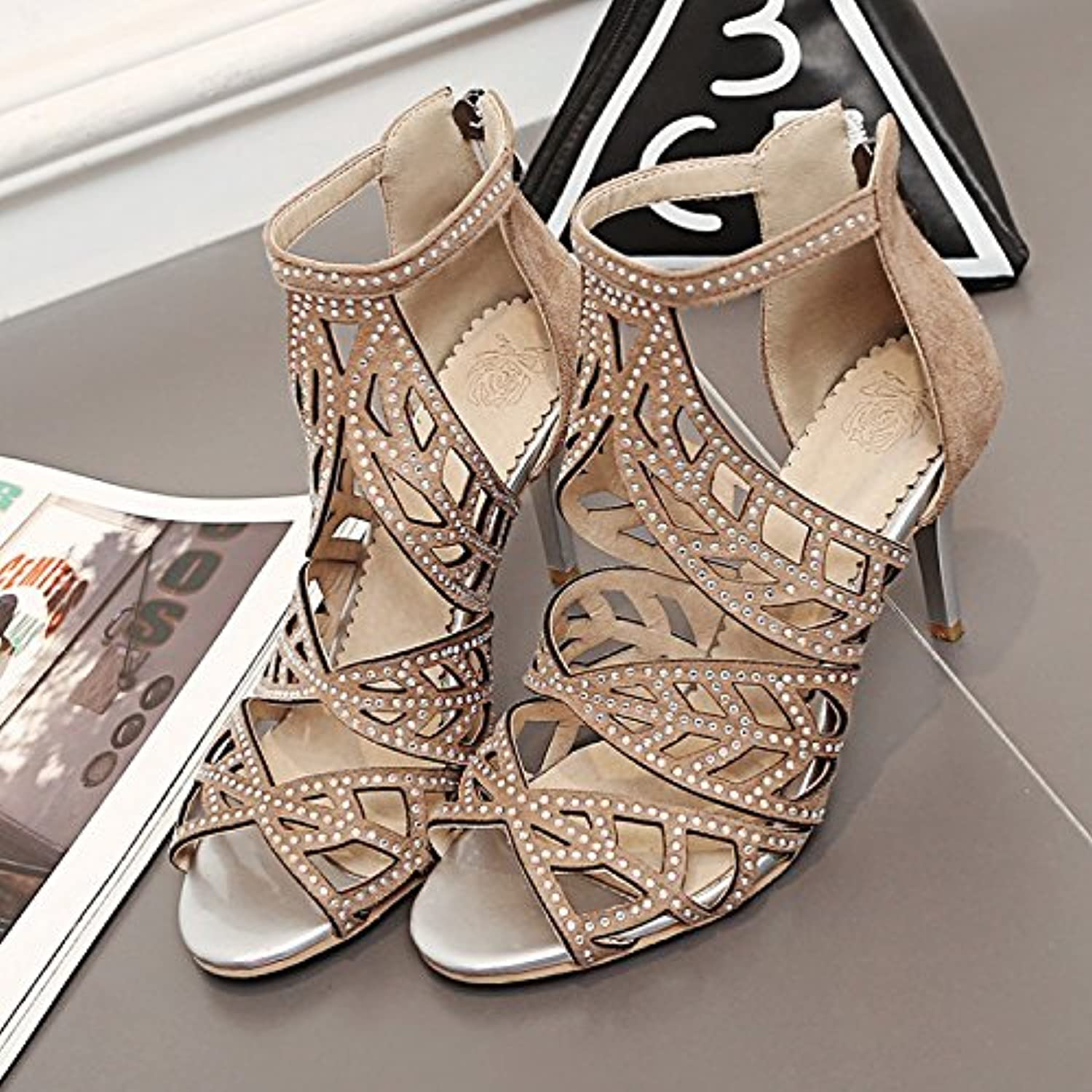 WHW Women's Club shoes Leatherette Party Evening Dress Casual Chunky Heel Sandals