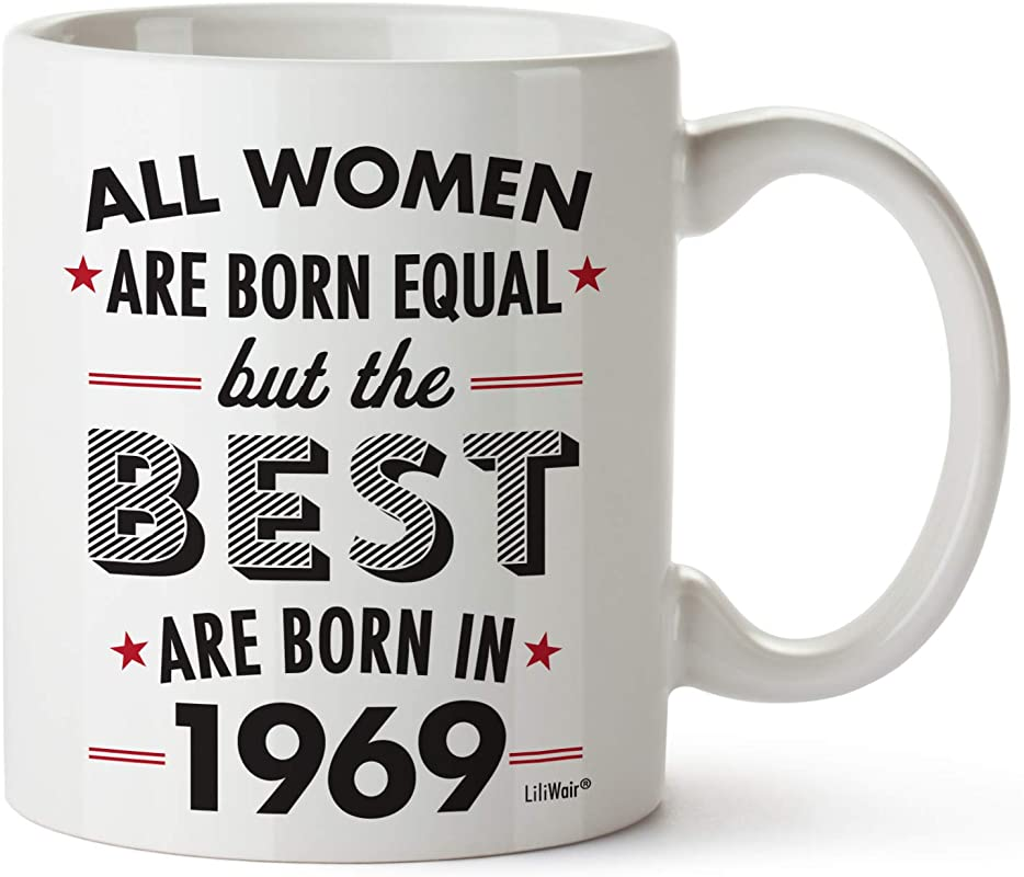 50th Birthday Gifts For Women Fifty Years Old Gift Mugs Happy Funny 50 Womens Womans Wifes Female Best Friend 1969 Mug Unique Ideas 69 Woman Wife Gag Dad Cute Girls Good Husband