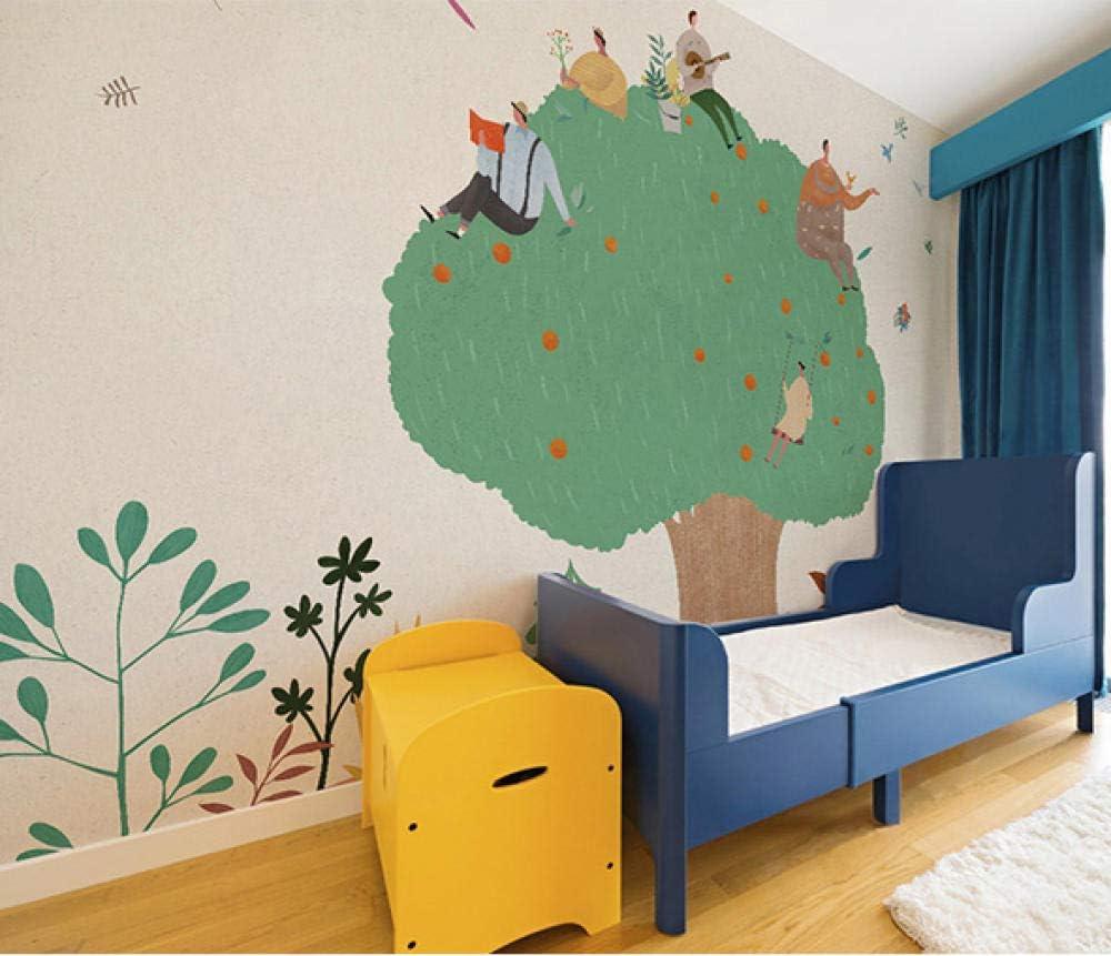 3D Abstract Cartoon Industry No. 1 Apple Tree Award Nursery Children's Photo Mural Ro
