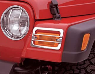 Rampage Products 84665 Stainless Euro Headlight Guards, 2 Piece for 1997-2018 Jeep Wrangler TJ & JK