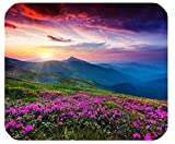 Nature Purple Flowers Meadow Mountain Scenic Large Mousepad Mouse Pad Great Gift Idea