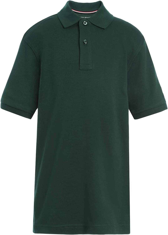 Tommy Hilfiger Kids' Short Sleeve Interlock Co-ed Polo Shirt, Boys & Girls School Uniform Clothes