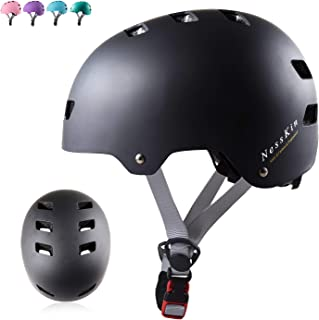 NESSKIN Skateboard Helmet with CPSC and ASTM Certified Kids-Youth-Adults Roller Skating Skateboarding Cycling Scooter Rollerblading Helmet