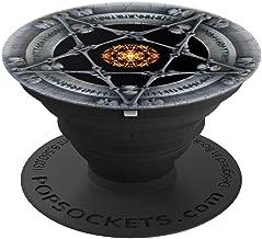 Pentagram Satanic Black Star - Devil Black Occult Star - PopSockets Grip and Stand for Phones and Tablets
