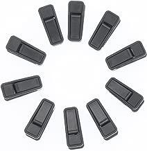 Fushing Plastic Hanger Clips, 50 Pack Black Finger Clips for AmazonBasics Velvet Standard/Shirt/Dress/Suit/Pants Hangers