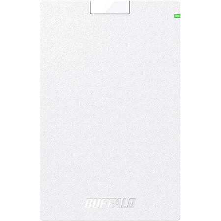 BUFFALO USB3.1(Gen.1)対応 ポータブルHDD スタンダードモデル ホワイト 1TB HD-PCG1.0U3-BWA