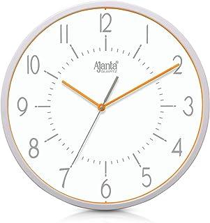 Ajanta Quartz Real Silent Sweep Movement Clock (315x60x315mm, Orange)