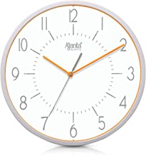 Ajanta Quartz Real Silent Sweep Movement Clock (315x60x315mm, Orange)