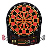 Arachnid Cricket Pro 450 Electronic Dartboard Features 31 Games with 178 Variations and Includes Two Sets of Soft Tip Darts , Black/Red, 19.00 x 1.00 x 19.00 inches