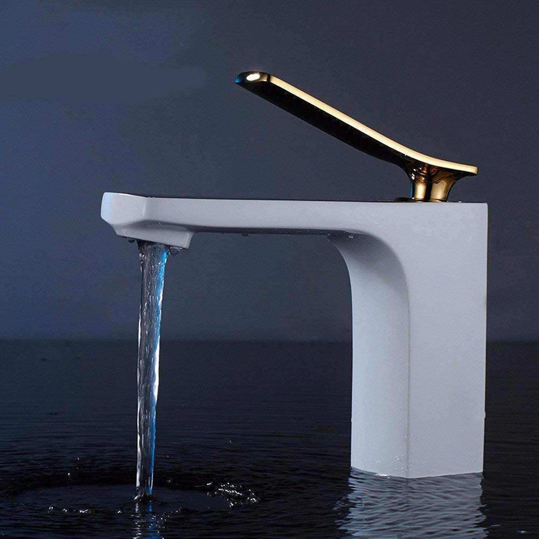 CFHJN Home Waschbecken Warm und Kalt Edelstahl Waschbecken Wasserhahn