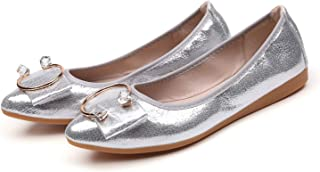 Lanyani Women's Comfort Ballet Flats Classic Soft Slip On Walking Dress Flat Shoes with Bows