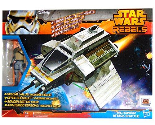 Hasbro Star Wars Rebels Fahrzeug + Figur - The Phantom - Attack Shuttle B0521