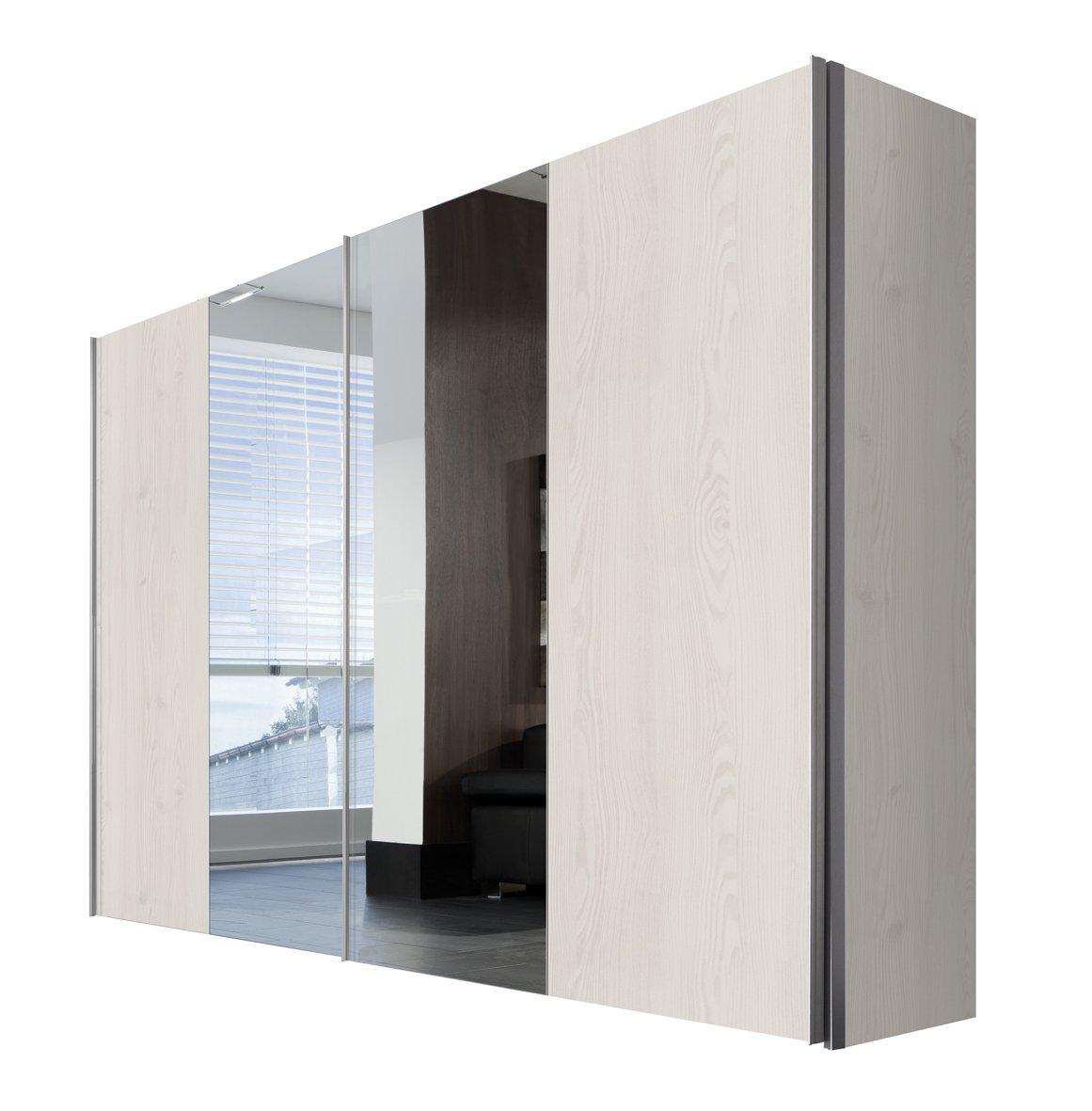 Solutions 04540 – 360 Armario de Puertas correderas (2 Puertas Cuerpo y Frontal Sibiu de alerce, Espejo, Mango Listones alufarben, 68 x 300 x 216 cm: Amazon.es: Hogar