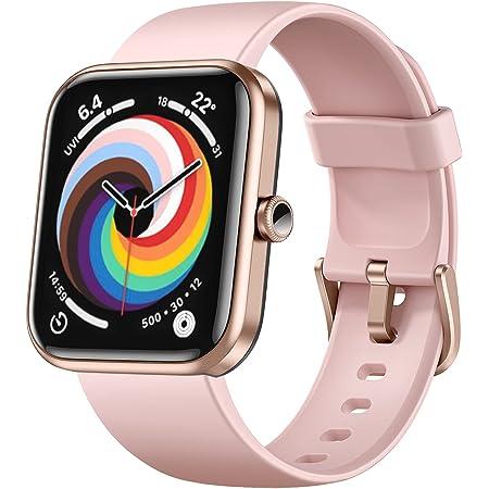 Dirrelo - Reloj inteligente para teléfonos Android compatible con iPhone, Alexa integrado Smart Watch para mujer, pantalla táctil de 1,69 pulgadas, IP68, resistente al agua, rastreador de actividad física con oxígeno en sangre, frecuencia cardíaca, monitor de sueño, color rosa