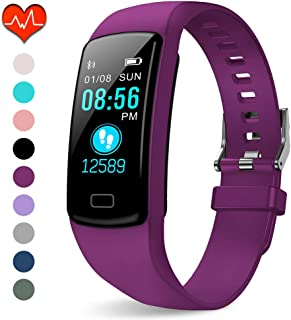 Fitness Tracker HR, Activity Tracker Watch with Heart Rate Monitor, Waterproof Smart Fitness Watch with Sleep Monitor Step Counter, Call Notice Smart Fitness Band for Kids Women Men