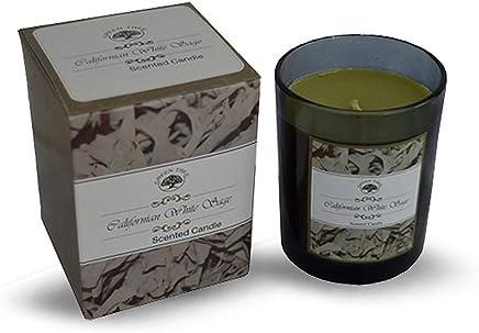Combinaison YANKEE CANDLE 1507712E 104g Bougie Parfumee Petite Jarre /à sel de mer et Sauge Blanc 6,3x6,2x5,3 cm