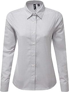Premier Womens/Ladies Maxton Check Long Sleeve Shirt
