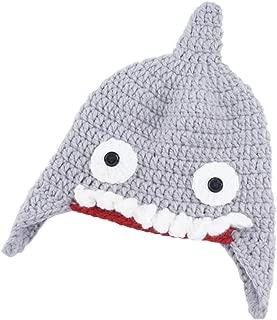 crochet shark beanie