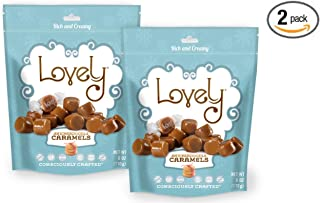 SNICKERDOODLE Caramels (2-Pack)- Lovely Co. 6 oz. Bag - Holiday Seasonal Flavor | Soft & Chewy, Old Fashioned Style, Authentic Caramel Candies - Non-GMO, Soy & HFCS- Free, Gluten-Free & Kosher!