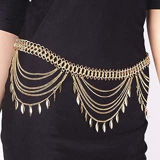Zoestar Boho Tassel Waist Chain Multilayer Sequin Body Chain Jewelry for Women Gold