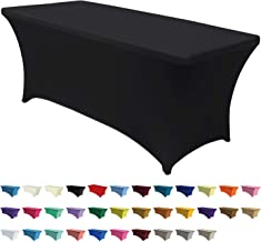 """ABCCANOPY Spandex Table Cover 4 Fitted Polyester Tablecloth Fitted Spandex Table Cover Table Spandex Table Top Mens Black 48 """"L x 30"""" W x 30 """"H"""