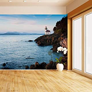 HIMURAL Lime Kiln Lighthouse Self Adhesive Peel and Stick Wallpaper Self Stick Mural Photos Home Wall Paper Sticker Wall Mural Decals Fresco Posters Removable