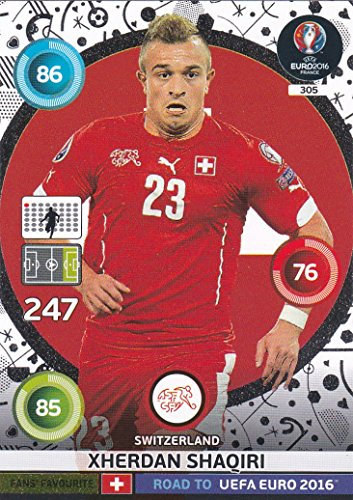 Panini Adrenalyn XL Road To UEFA Euro - 2016 Xherdan Shaqiri ventilateurs Favourites carte