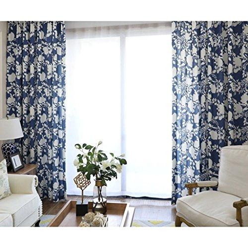 CURTAIN met liefde afdrukken en verven halfschaduw vloer slaapkamer verduisterende oogje verduistering voor woonkamer met twee bijpassende Tie Backs 2 panelen