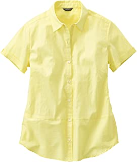 (エディー・バウアー) Eddie Bauer レディース 半袖シャツ 半袖ストライプドビーシャツ