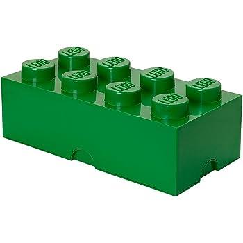Ladrillo de almacenamiento de 8 espigas de LEGO, caja de almacenaje apilable, 12 l: Amazon.es: Juguetes y juegos