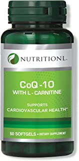 Nutritionl Coq10 30 mg With L-Carnitine 50 Softgels