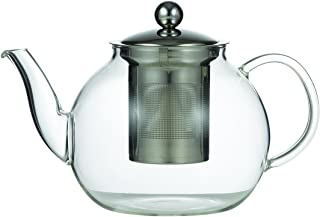 LEAF & BEAN D8010 Camellia Teapot with Filter, Glass, Stainless Steel