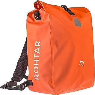 Rohtar - Mochila mensajera impermeable - Bolsa 3 en 1 de 18 o 25 litros, mochila, portabicicletas de viaje - Mochila para bicicleta de montaña - Correas ajustables, correas de manillar, cremalleras ocultas