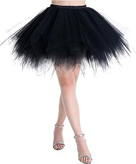 MuaDress Sottoveste con Gonna in Tulle retrò Tutu Balletto Halloween Corta sotto Stile Anni '50 in Stile Altalena