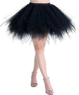 MuaDress Tüllrock Petticoat Kurz Tutu Minirock Retro Unterrock Ballet Tanzkleid