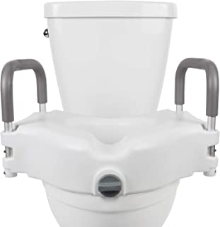 lumex padded raised toilet seat