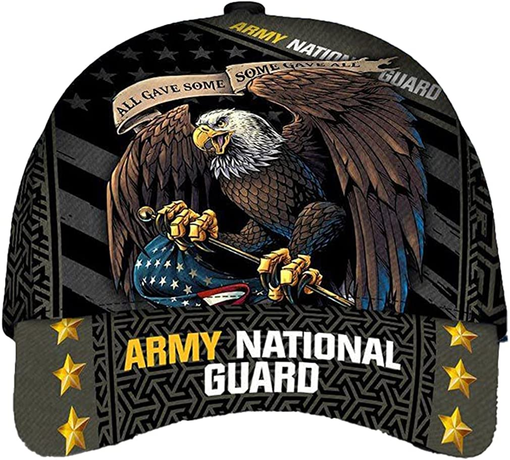 Army National Guard Classic Cap Baseball Cap for Men Cap for Women with Adjustable Strap Sports Soft Caps Outdoor