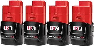 Best milwaukee m12 6.0 battery 2 pack Reviews