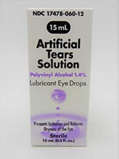ARTIFICIAL TEARS SOLUTION LUBRICANT EYE DROPS STERILE 0.5 FL OZ PACK OF 1