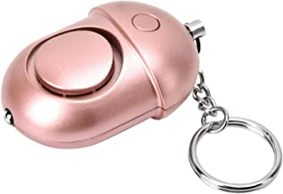 Alarm Keychain, ABS Material Rosy Alarm, Exquisite Large Decibel The Elderly Night Walkers Sports People for Women